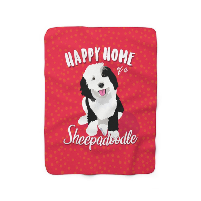 Sheepadoodle Sherpa Fleece Blanket