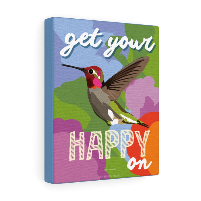 "Hummingbird ""Get Your Happy On"" Canvas Gallery Wrap"