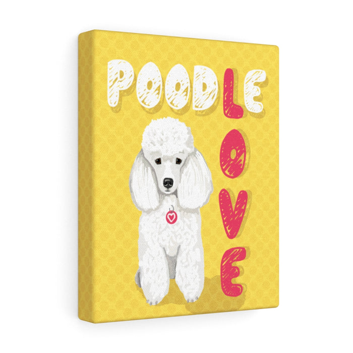 Poodle (white) Canvas Gallery Wrap