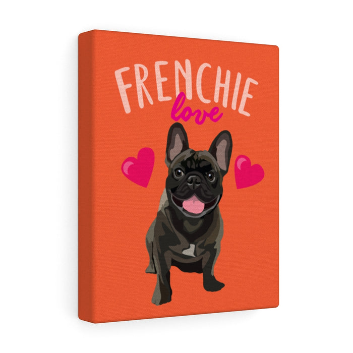 "Frenchie ""Frenchie Love"" Canvas Gallery Wrap"
