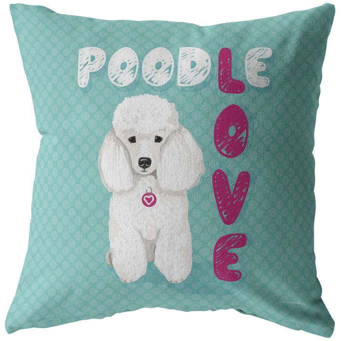 Poodle (White Dog) Pillow