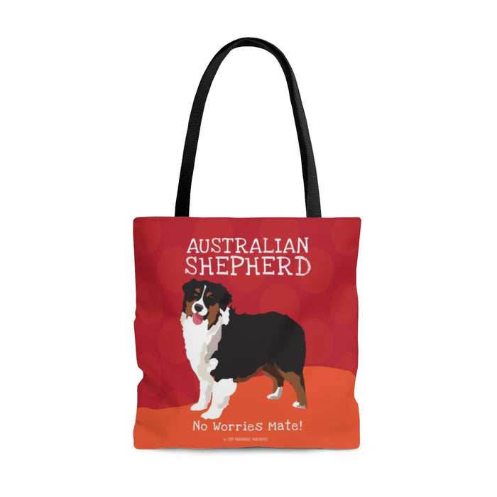 Australian Shepherd (Black & Tan Dog) Tote Bag