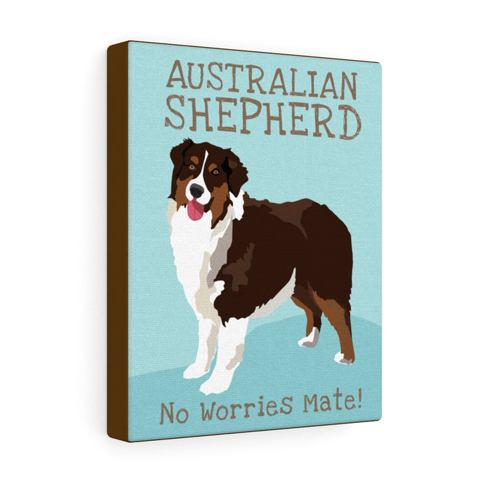 Australian Shepherd (brown) Canvas Gallery Wrap