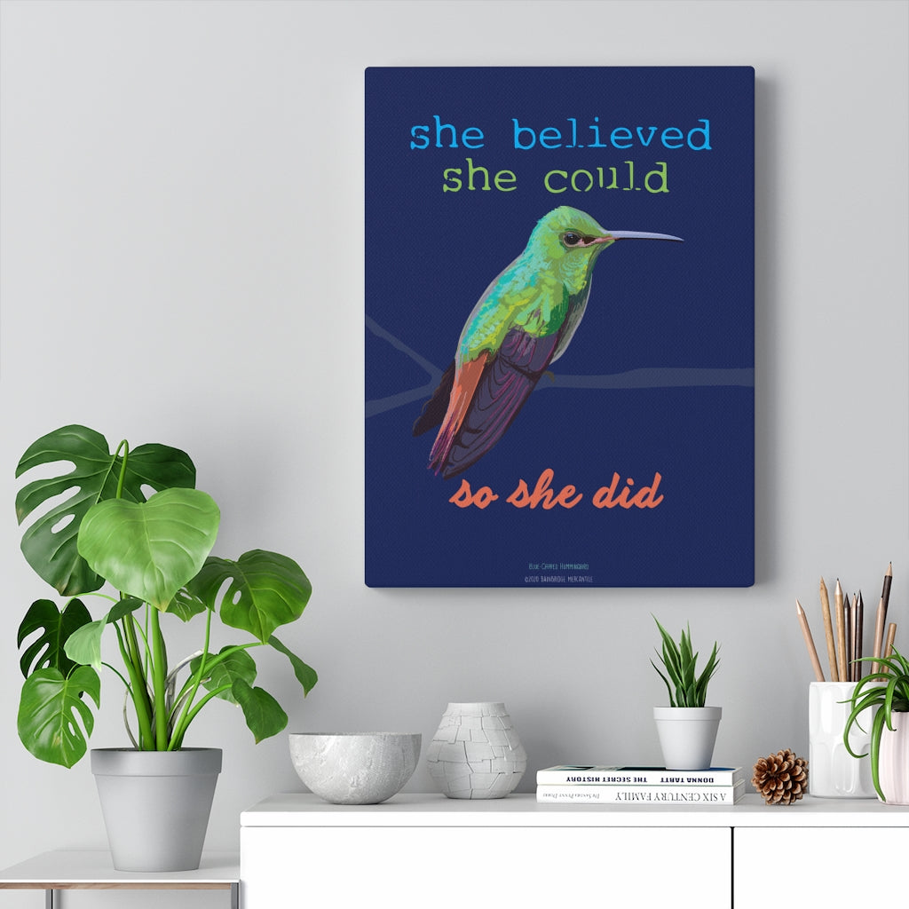 She Believed She Could So She Did Canvas Gallery Wrap