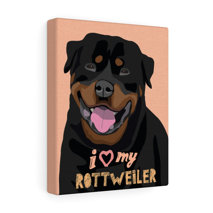 Rottweiler Canvas Gallery Wrap