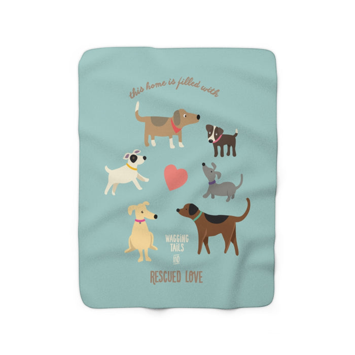 Rescue Dog Sherpa Fleece Blanket