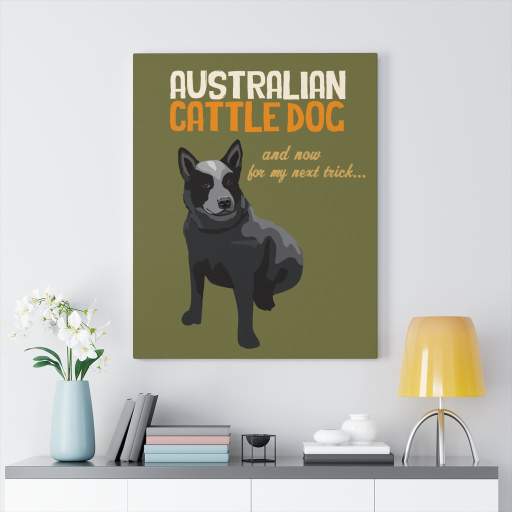 Australian Cattle Dog (black) Canvas Gallery Wrap