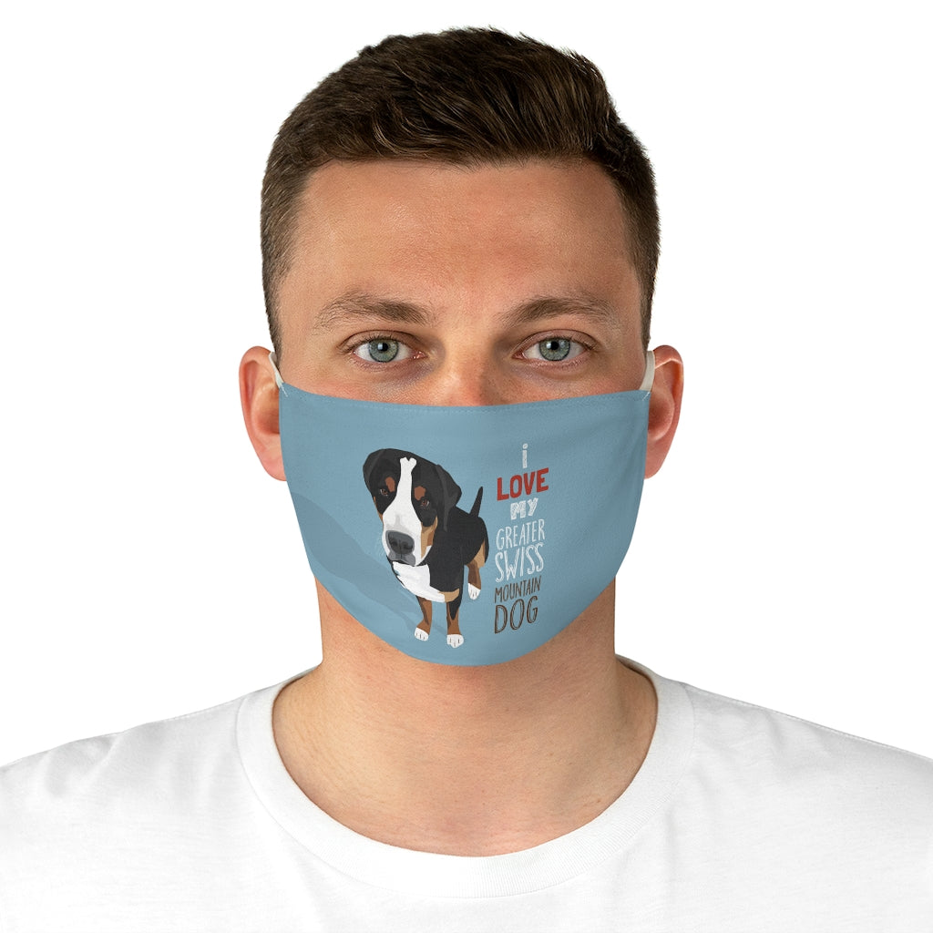 Greater Swiss Mountain Dog Face Mask