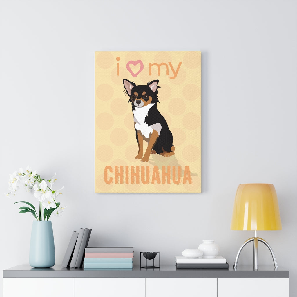 Chihuahua (black & tan) Canvas Gallery Wrap