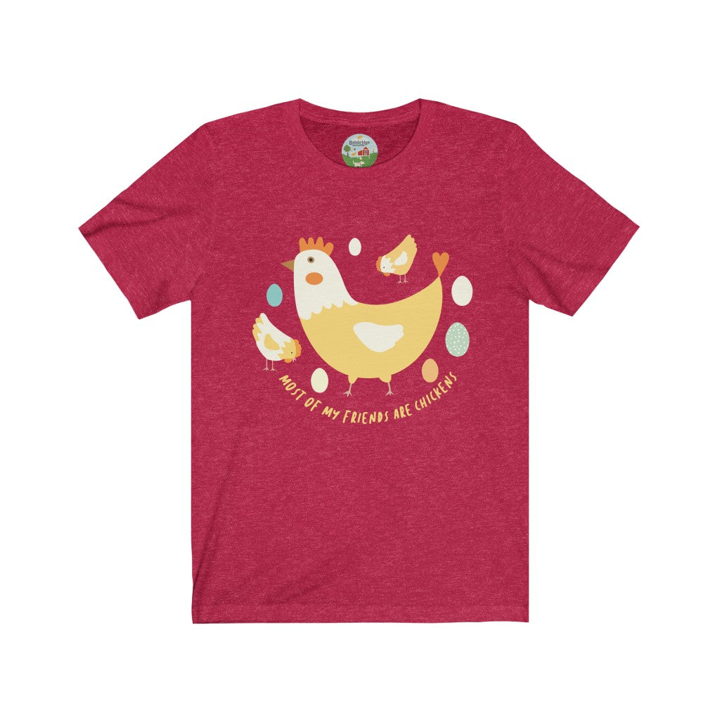 "Chicken ""Friends"" Unisex Short Sleeve T-Shirt"