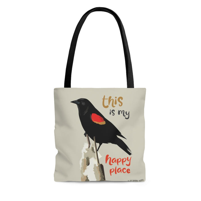 This is My Happy Place (Red Winged Blackbird) Tote Bag
