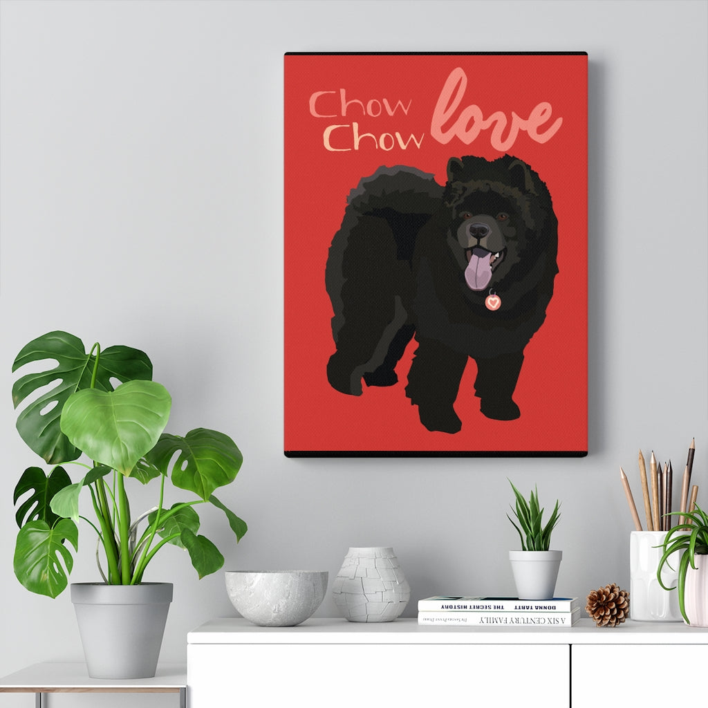 Chow Chow (black) Canvas Gallery Wrap