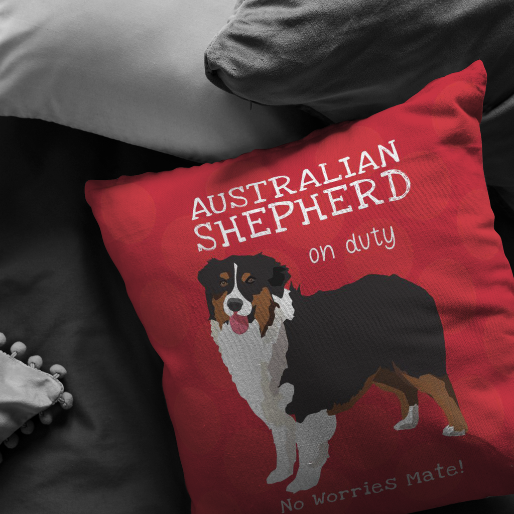 Australian Shepherd (Black & Tan) Pillow