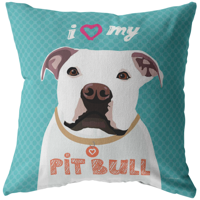 Pit Bull (White) Pillow