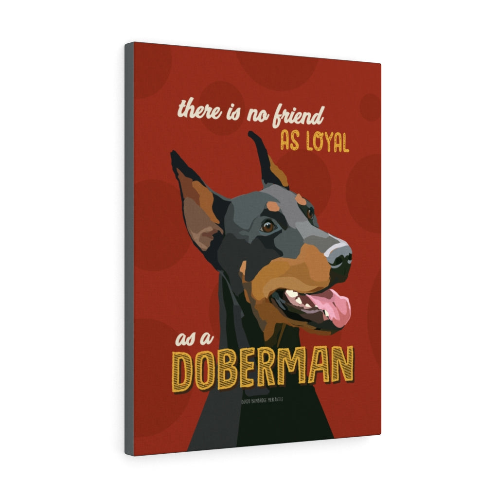 Doberman Canvas Gallery Wrap