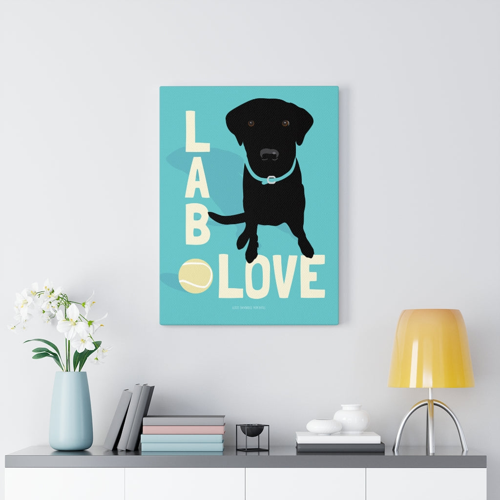 Black Lab - Canvas Gallery Wrap