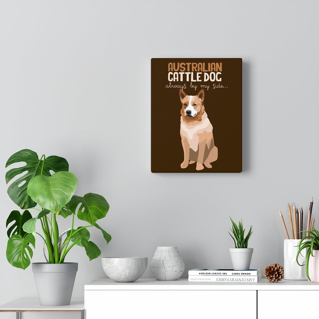Australian Cattle Dog (brown) Canvas Gallery Wrap