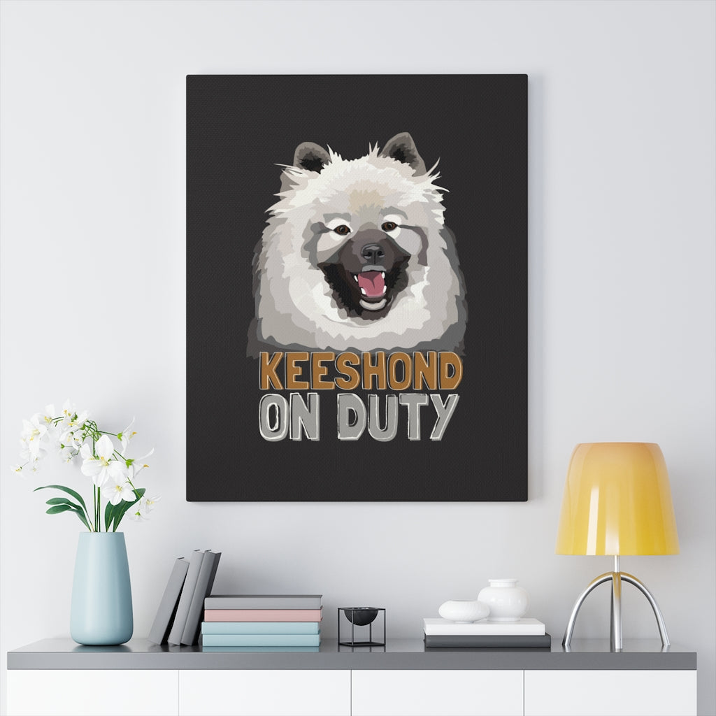 Keeshond Canvas Gallery Wrap