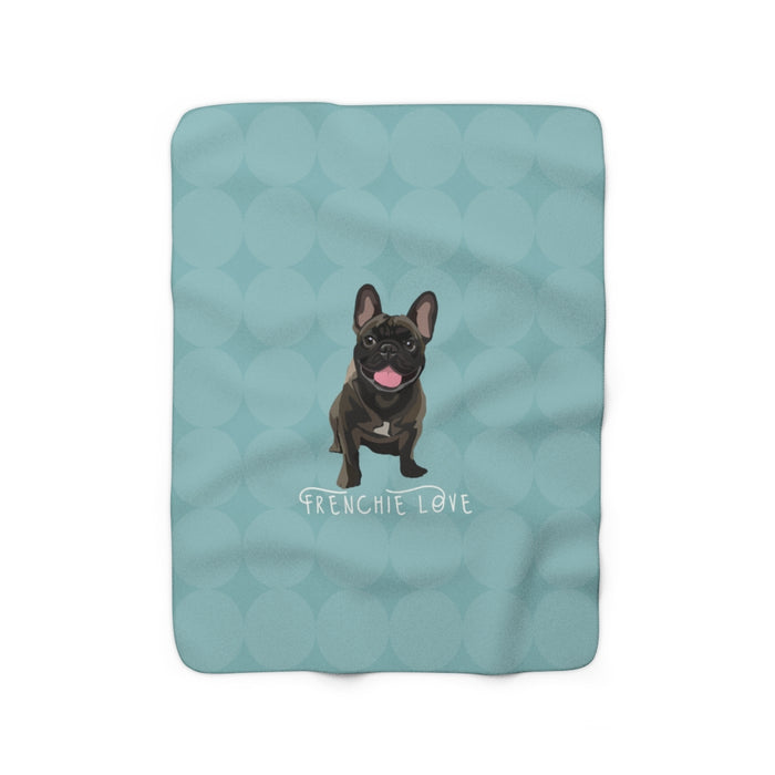 French Love (brindle) Sherpa Fleece Blanket