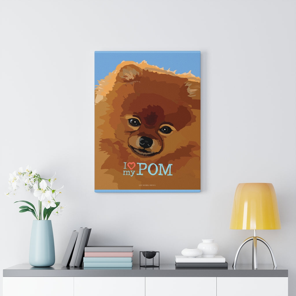 Pomeranian Canvas Gallery Wrap