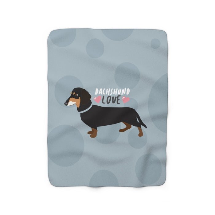 Dachshund Love Sherpa Fleece Blanket