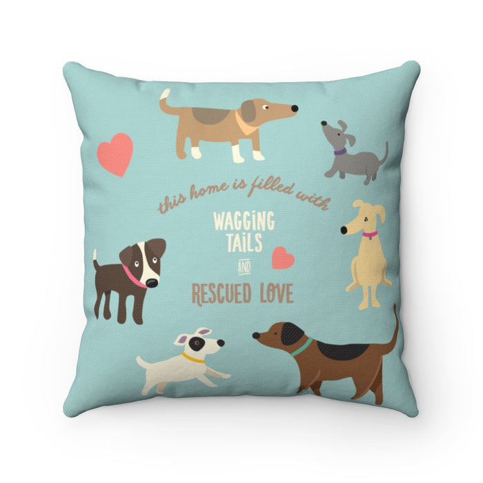 Rescue Dog Square Pillow