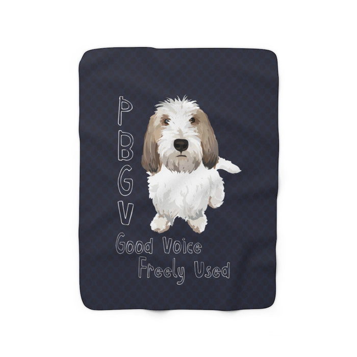 "P.B.G.V. ""Good Voice Freely Used"" Sherpa Fleece Blanket"