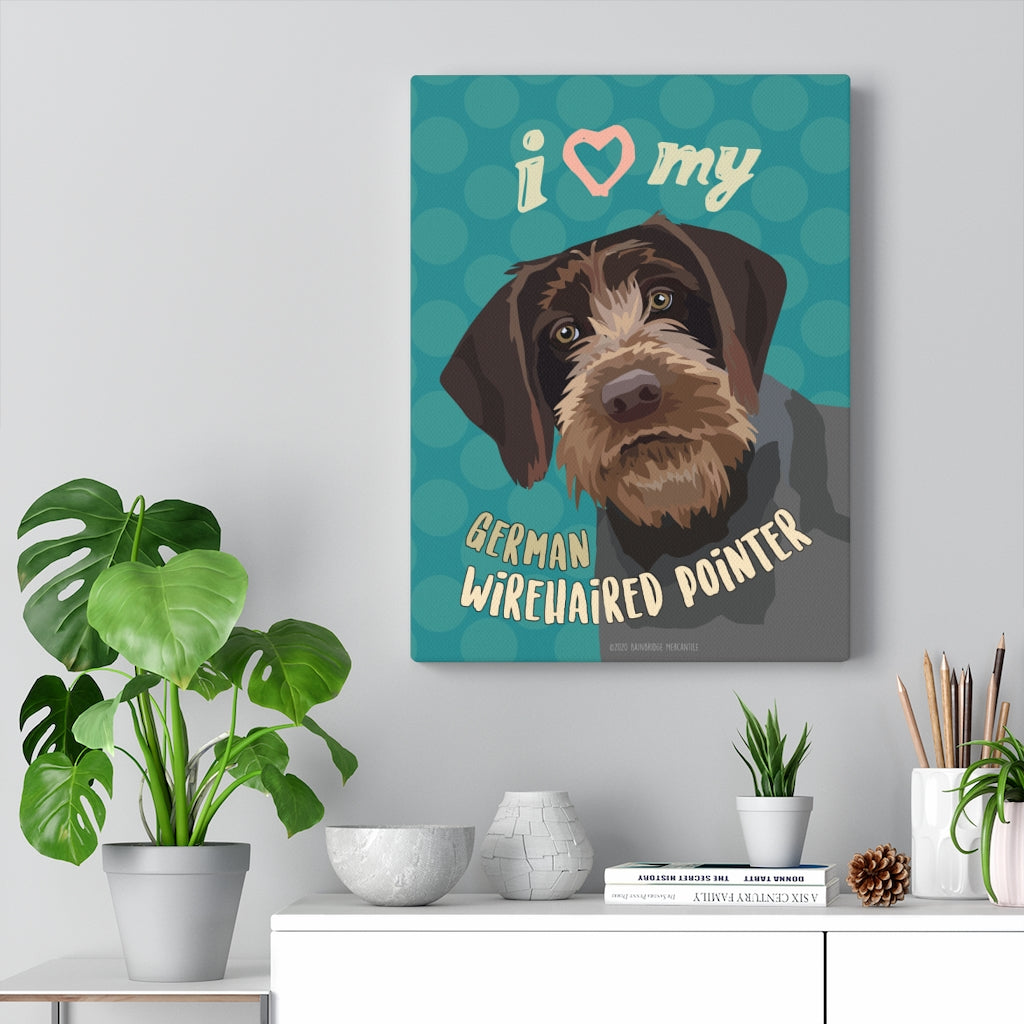 German Wirehaired Pointer Canvas Gallery Wrap