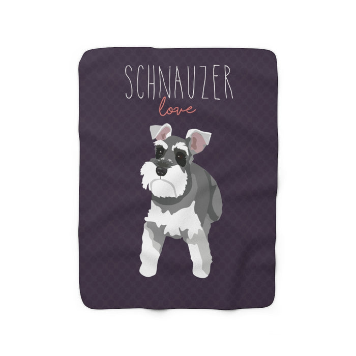 Schnauzer Love Sherpa Fleece Blanket