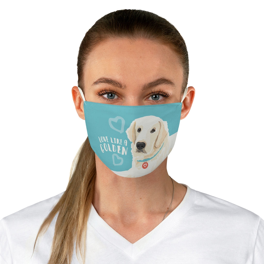 Golden Retriever (English Cream) Face Mask