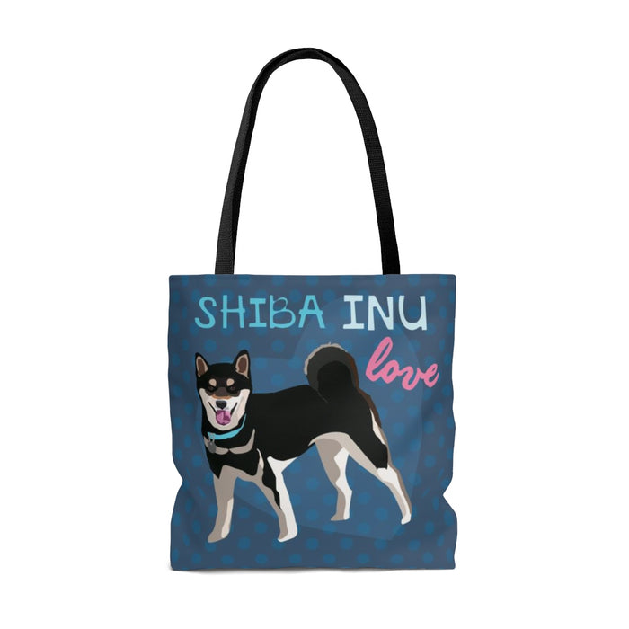 Shibu Inu (Black Dog) Tote Bag