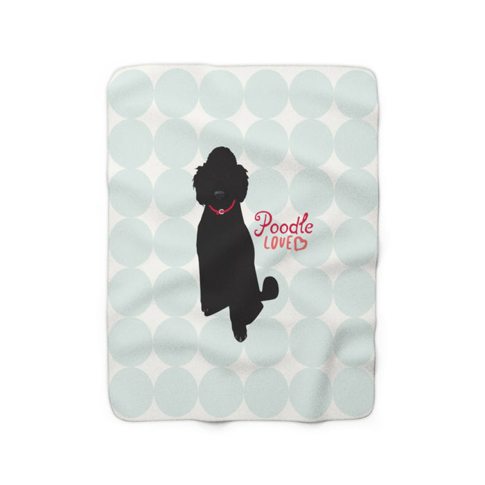 Standard Poodle (black) Sherpa Fleece Blanket