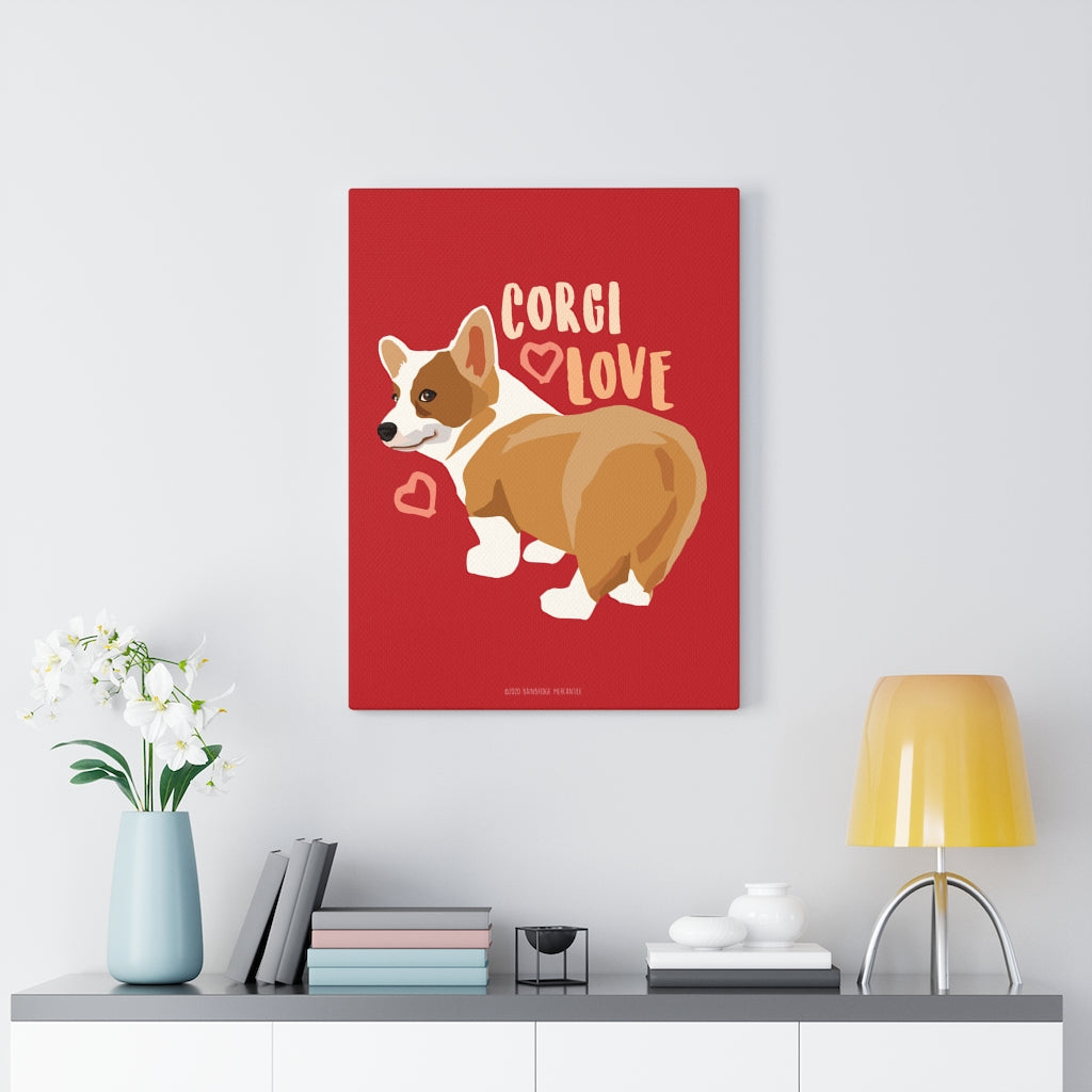 Corgi Love Canvas Gallery Wrap