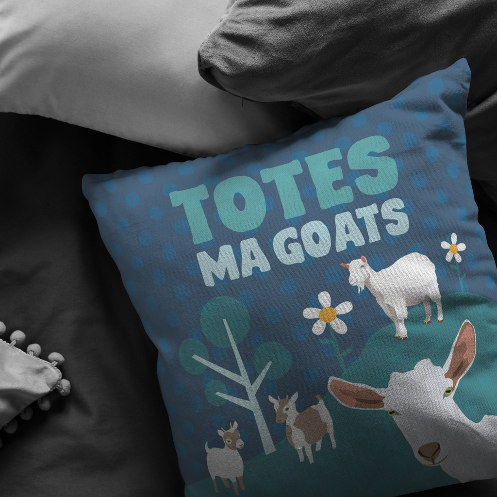Totes Ma Goats Pillow