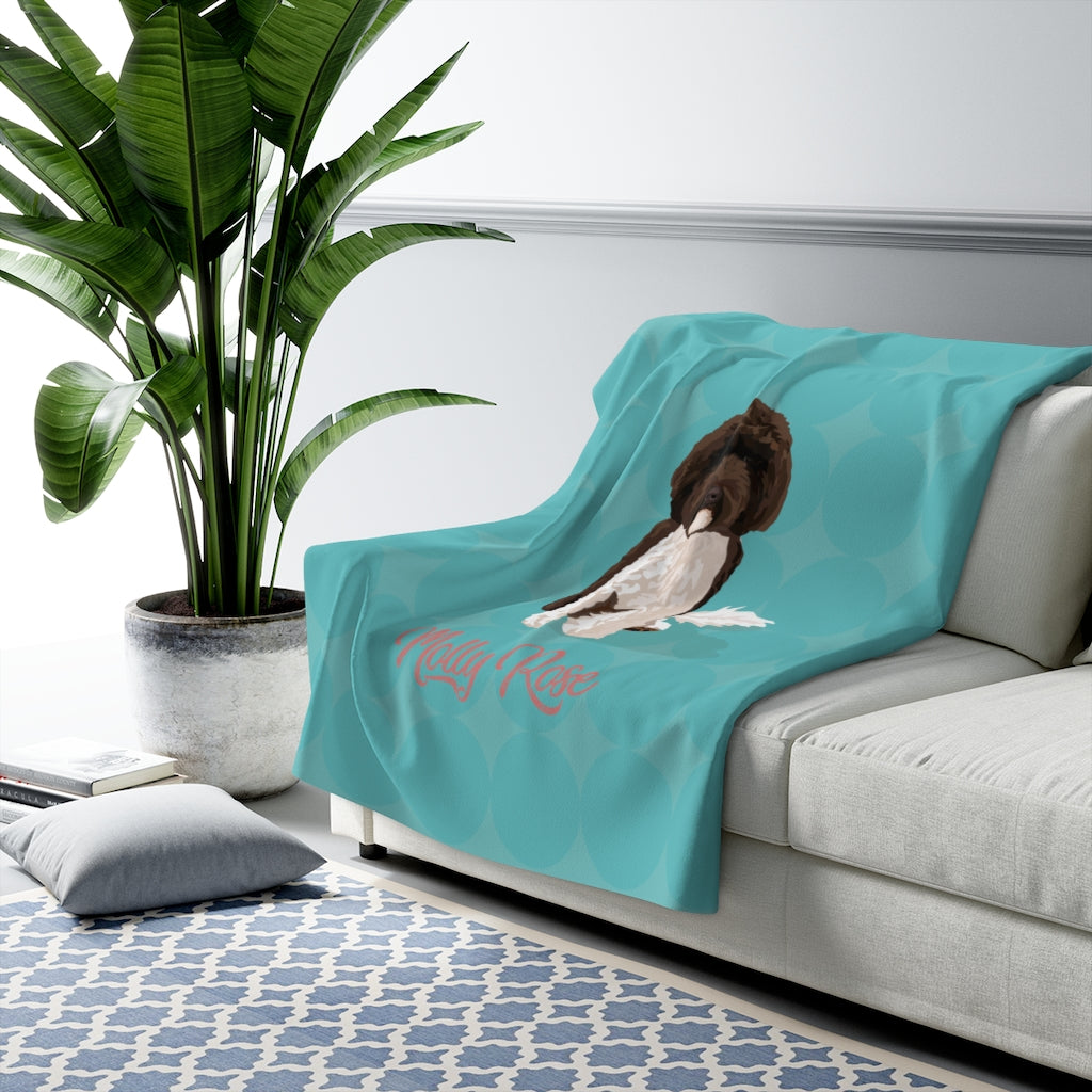 Custom Dog Blanket (Molly Rose) Sherpa Fleece Blanket
