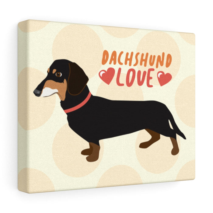 Dachshund (Black & Tan) Canvas Gallery Wrap
