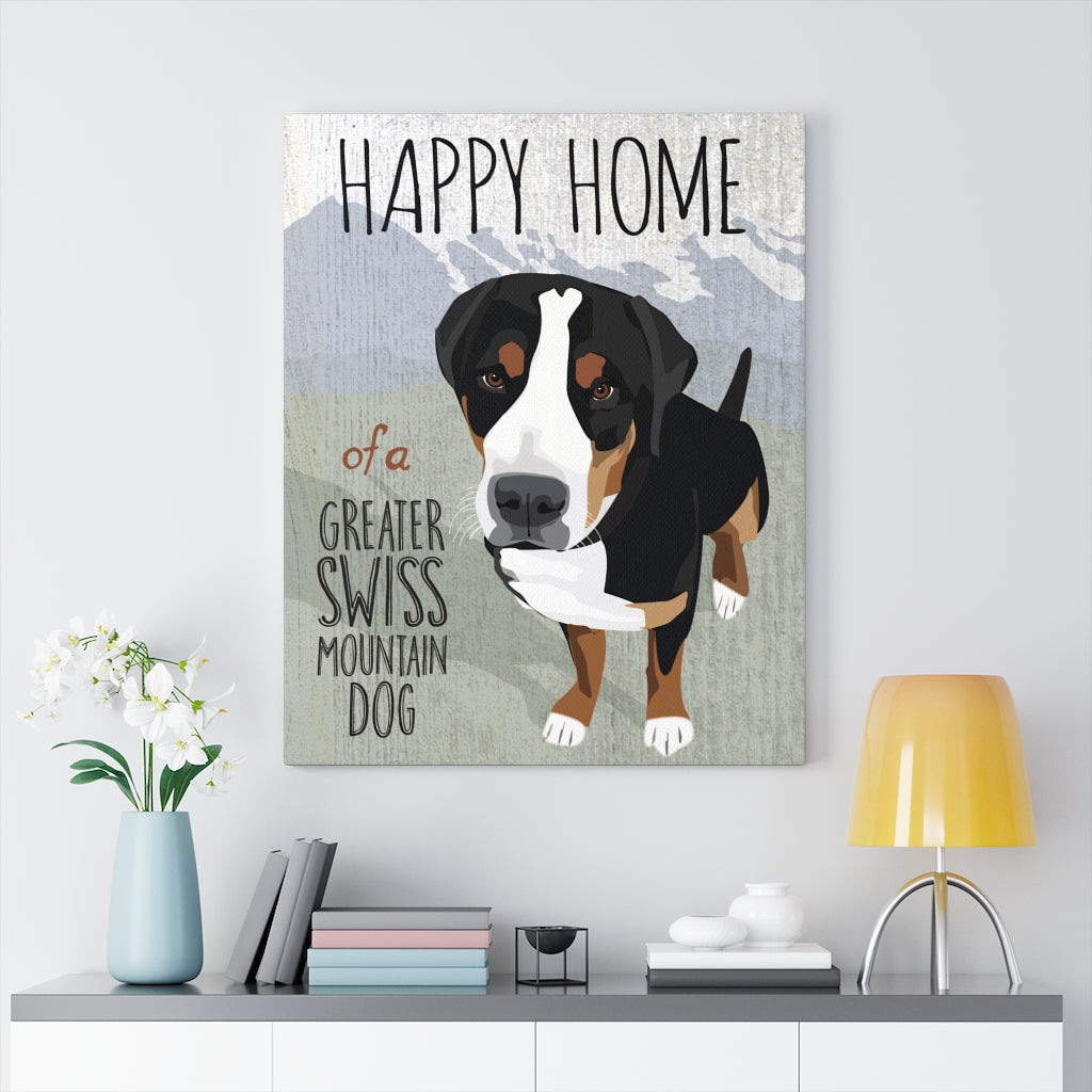 Greater Swiss Mountain Dog Canvas Gallery Wrap