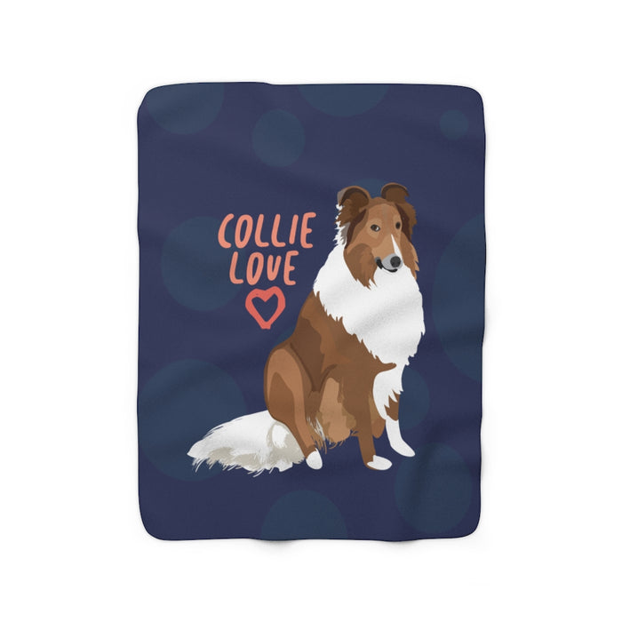 Collie Love Sherpa Fleece Blanket