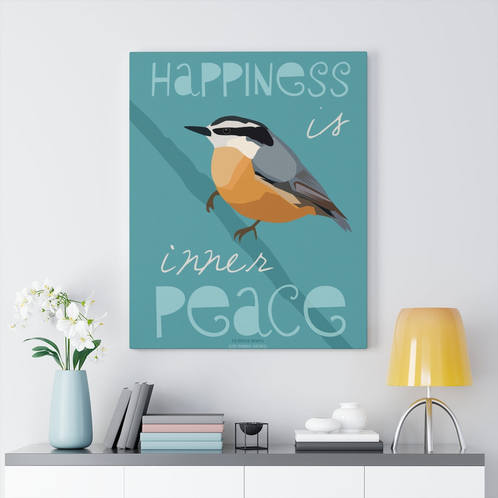 Happiness Is Inner Peace Canvas Gallery Wrap