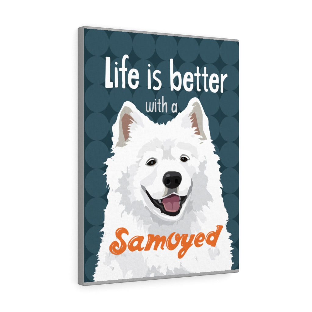 Samoyed Canvas Gallery Wrap