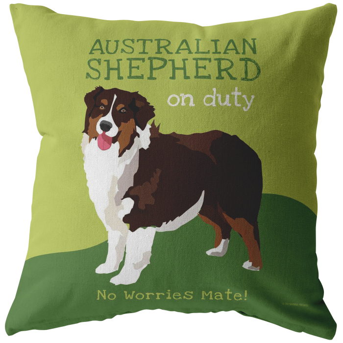 Australian Shepherd (Brown Dog) Pillow