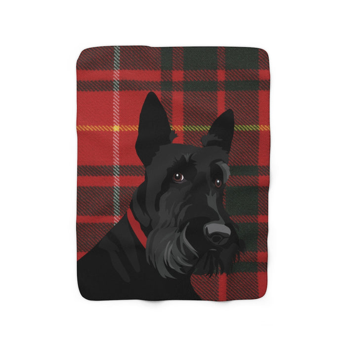 Scottie Sherpa Fleece Blanket
