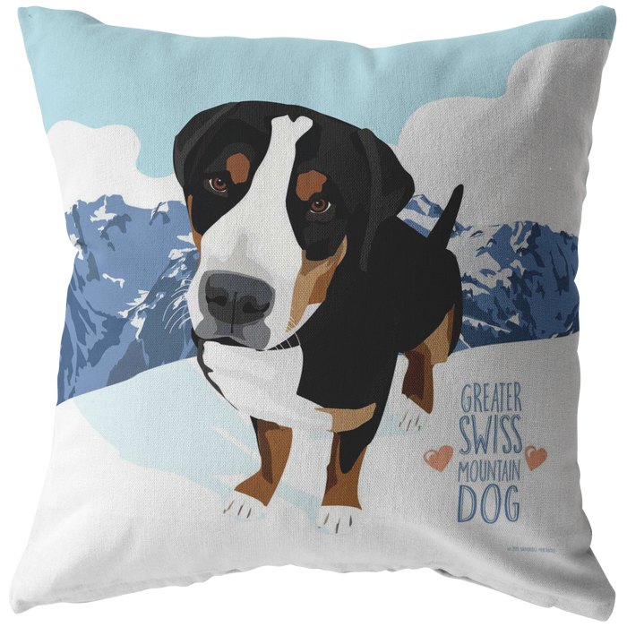Greater Swiss Mountain Dog Pillow