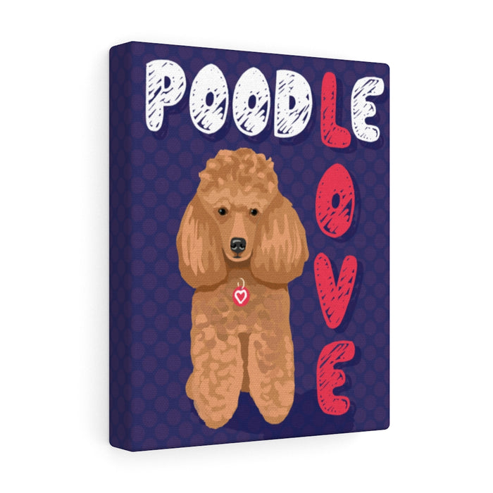 Poodle (apricot) Canvas Gallery Wrap
