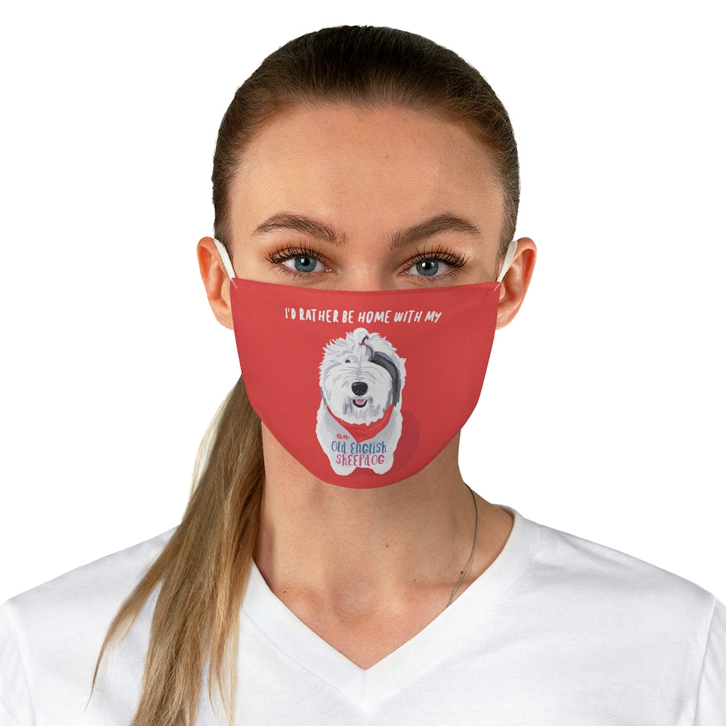 Old English Sheepdog Face Mask