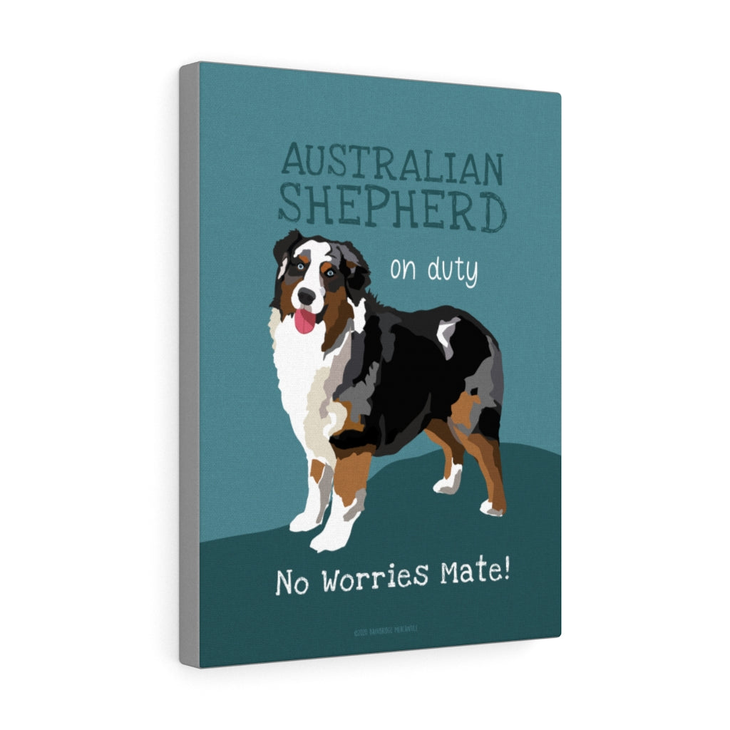 Australian Shepherd - Tri Color - Canvas Gallery Wrap