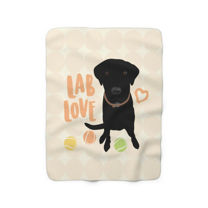 Black Lab Sherpa Fleece Blanket