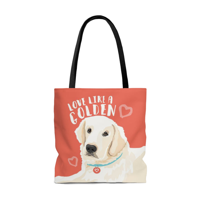 Golden Retriever (English Cream Dog) Tote Bag