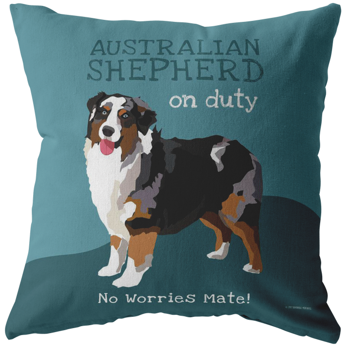Australian Shepherd (Tri Color Dog) Pillow