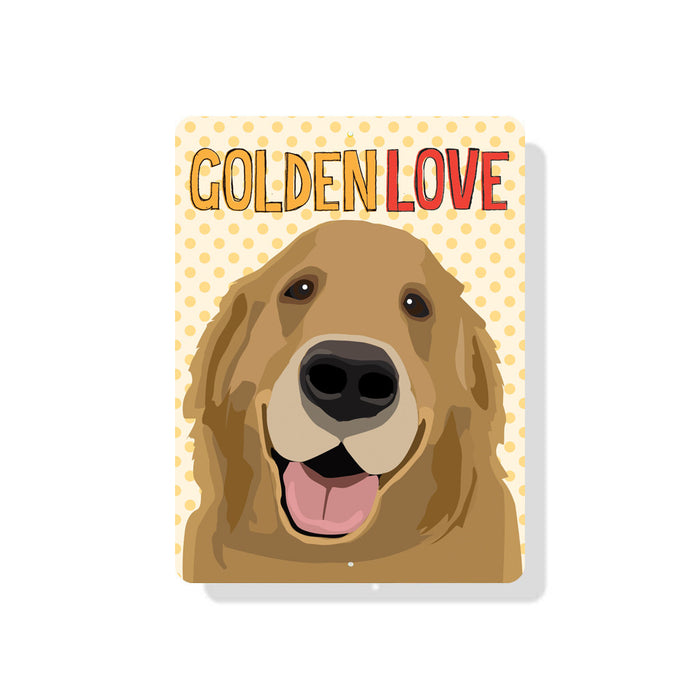 "Golden Love sign  9"" x 12"" Yellow"